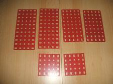 Märklin Metallbaukasten verschiedene Rechteckplatten gut erhalten siehe Foto