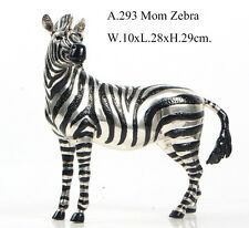 BRONZE SCULPTURE AFRICAN MOM MOTHER ZEBRA ART DECO STATUE FIGURINE FIGURE DECOR