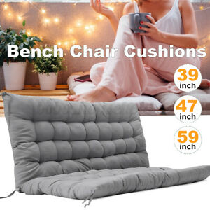 3 Seater Swing Bench Chair Cushions Garden Home Seat Backrest Pad