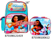 """Disney Moana School 16"""" Backpack &  Insulated Lunch Bag   2pc SET"""