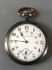 Ancienne montre à gousset Chronomètre LIP en acier début XXème