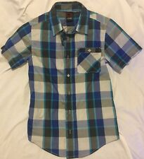 HAWK BUTTON UP SHIRT SIZE YOUTH LARGE PLAID NEW RVCA VOLCOM ELEMENT STUSSY LRG