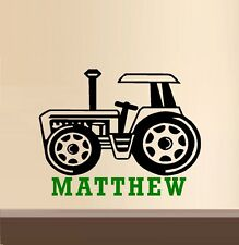 Tractor with Custom Name- Wall Decal
