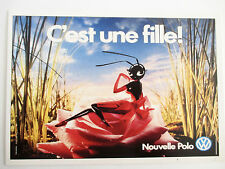Carte Editions Atlas. Slogan Publicitaire 1987 Volkswagen Polo, Fourmi