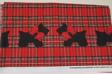 SCOTTY Scottie Terrier DOG PLAID PATTY REED FABRIC TRADITIONS FABRIC