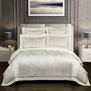 Luxury 100SCotton Jacquard Queen King Bedding Set Bed Cover Bedsheet Duvet Cover