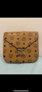 MCM leather sling bag
