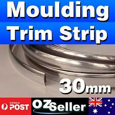 Silver 14M 30mm Car Chrome DIY Moulding Trim Strip For Door Window Bumper Grille