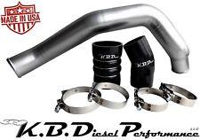 """Silver Hot Side 3"""" Intercooler Tube Ford Powerstroke 6.0l Diesel 03-07 F250 F350"""