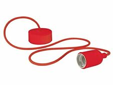 Luminaire Design À suspension en cordage - Rouge Velleman Lamph01r