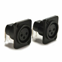 2Pcs XLR 3 Pin Panel Mount Female Chassis Socket Connector Sale-t SPUK