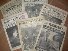 SEVEN VERY VERY OLD NEWSPAPERS BUT ONE PRICE