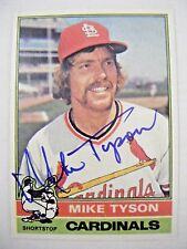 MIKE TYSON signed CARDINALS 1976 Topps baseball card AUTO Autographed CUBS #86