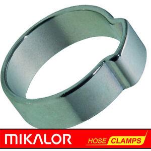 Mikalor W1   Single Ear   O Clips   Hose Clamp   Zinc Plated Steel   NEXT DAY