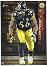 LAMARR WOODLEY PITTSBURGH STEELERS MICHIGAN WOLVERINES FATHEAD TRADEABLE 2012 13