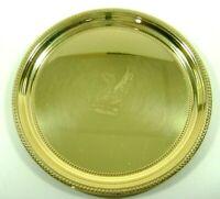 "Baldwin Brass Pin Trinket Tray Mount Vernon Phoenix Beaded Edge Round 7.25"""