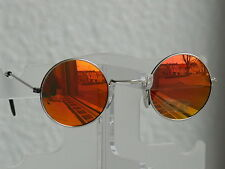 Sonnenbrille Herrenbrille Nickelbrille runde Gläser braun/grün verspiegelt 1140