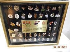 1988 Olympic Pin Framed Set - Team Mascots - Series 1-C