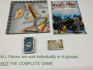 U-PICK Ticket To Ride EUROPE Replacement Parts Pieces Cards Gameboard manual