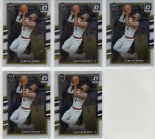 2017-18 Donruss Optic #27 Lebron James 5 Card Lot (Cleveland Cavaliers)
