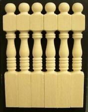 Dolls House 6 Bare Wood Centurian Newel Posts Miniature 1:12 Scale
