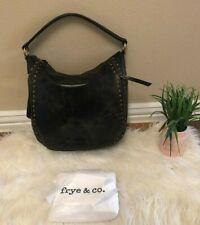 NEW  FRYE Brown Leather Purse Hobo Bag, handbag with studs, leather shoulder bag