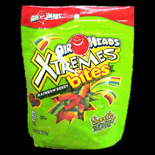 NEW SEALED AIRHEADS XTREMES RAINBOW BERRY BITES SOFT & CHEWY CANDY 9 OZ BAG