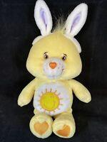 "2003 Care Bears Play Along Easter Yellow Funshine Bear 11"" stuffed animal plush"