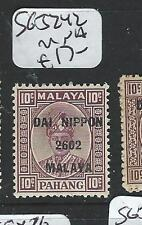 MALAYA JAPANESE OCCUPATION PAHANG (PP0803B) 10C DN SG J242  MNH