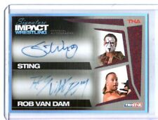 TNA Sting & Rob Van Dam 2011 Signature Impact RED Dual Autograph Card SN 4 of 5