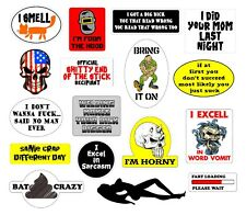 Rude Crude Hard Hat Stickers Decals Welders Helmet Flask ToolBox Locker ANYWHERE