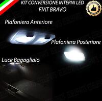 KIT LED INTERNI FIAT BRAVO ANTERIORE + POSTERIORE + PORTAOGGETTI + BAG. 6000K