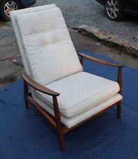 Milo Baughman for James Inc Mid Century Modern Walnut Rocker Recliner Chair