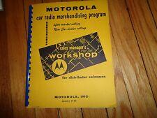 Motorola Car Radio Merchandising Program Book 1959