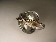 Beautiful 14K Two-Tone Gold Green Amethyst Heart Diamond Pendant