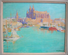 Listed Artist, Guy Hoff, Painting of Coast of Palma, Majorca