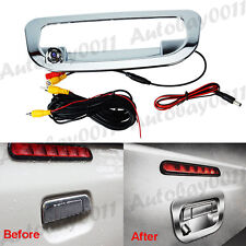 Chrome Car Rear View Reverse Tailgate Backup Camera Handle Cover for ISUZU D-MAX