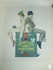 Gaiety Dance Team Norman Rockwell signed A/P collotype