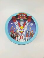 Vintage 1990 Captain Planet/Planeteers Blue Tin Container Box Comic Hero Graphic
