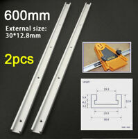 2 pcs 600mm T-slot T-tracks Miter Track Jig Fixture Slot Tool for Router Table