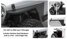 Jeep Front Armor Tube Fender Flares for 97-06 Jeep TJ Wrangler