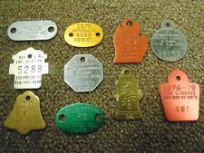 New listing Lot of 10 Assorted Vintage Dog Licenses Tags Tokens