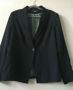 NEXT Tailoring Navy Blue Pinstripe Blazer Jacket Size 22R