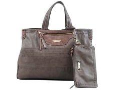 David Jones Damen Kunstleder Handtasche Schultergurt Grau