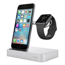 Belkin Valet Charge Dock for Apple iPhone and iWatch - Silver and Rose Gold