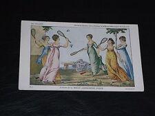 ORIGINAL BELLE JARDINIERE  ADVERTISING POSTCARD - LA VOLANT - LADIES, BADMINTON.