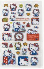 Sanrio Hello Kitty Stickers Hard Plastic Glitter Clock