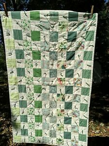 "Hand Tied Baby/Prayer Quilt 44""x27"""