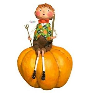 Peter Pumpkin Eater Figurine by Lori Mitchell NEW