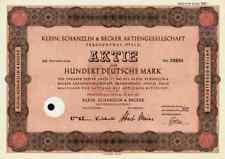 Klein Schanzlin Becker 1951 Frankenthal Pegnitz Nürnberg 100 DM KSB Pumpen AMAG